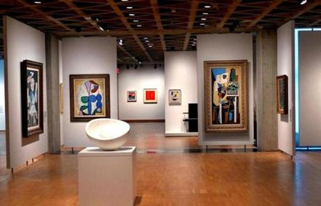 The modern art gallery in Yale University Art Gallery.